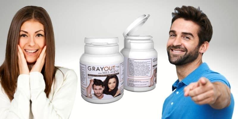 GrayOut con Melatine per eliminare i capelli bianchi. Funziona? Opinioni e Prezzo