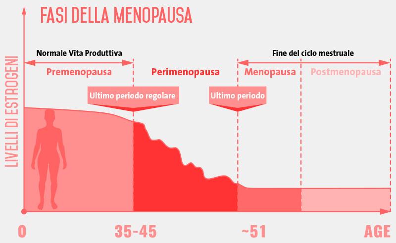 grafico fasi menopausa